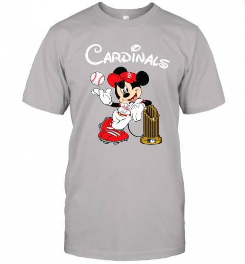 St. Louis Cardinals Mickey Taking The Trophy MLB 2019 Unisex Jersey Tee