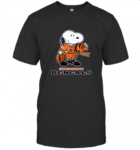 Snoopy A Strong And Proud Cincinnati Bengals NFL T-Shirt
