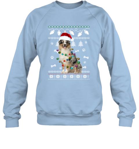 Australian Shepherd Xmas Dog Light Ugly Sweatshirt