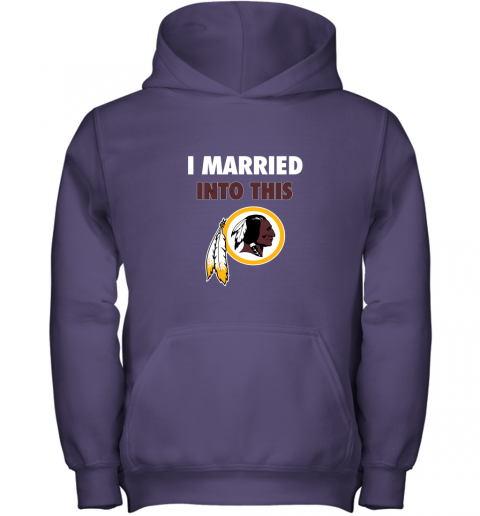 xuuq i married into this washington redskins football nfl youth hoodie 43 front purple