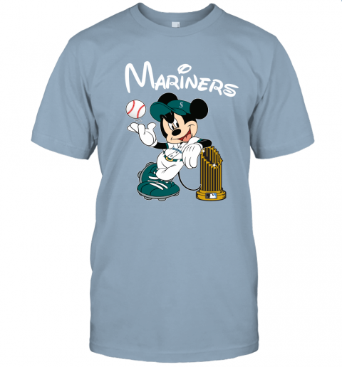 tufe seattle mariners mickey taking the trophy mlb 2019 jersey t shirt 60 front light blue