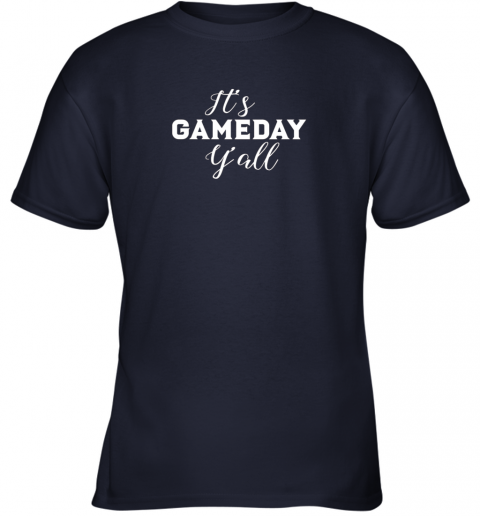 ywng it39 s game day y39 all football baseball basketball youth t shirt 26 front navy
