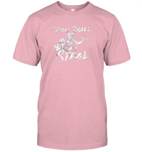 25jm thou shall not steal baseball catcher jersey t shirt 60 front pink