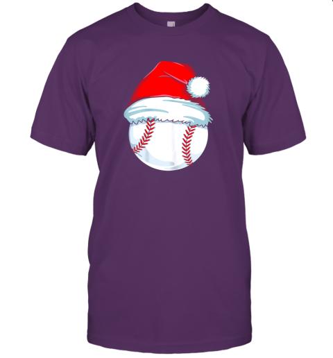 yu1m christmas baseball shirt for kids men ball santa pajama jersey t shirt 60 front team purple