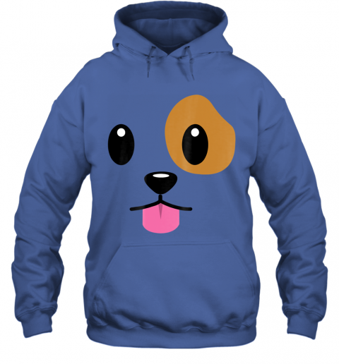 Puppy Dog Emoji Face Halloween Costume Hoodie