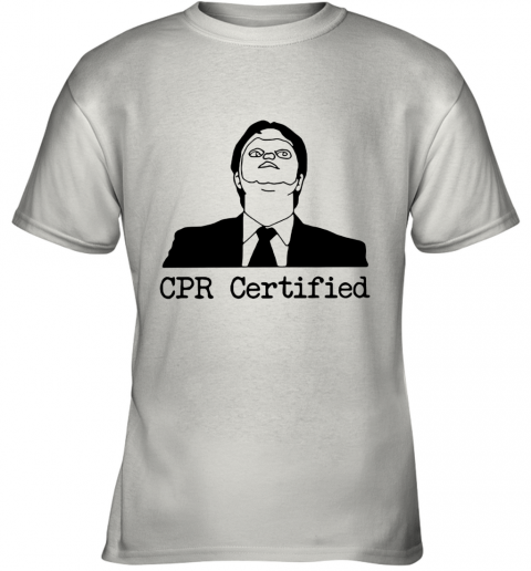 First Aid Fail CPR Certified The Office Youth T-Shirt