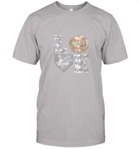jwxh baseball distressed ball cute dad mom love gift jersey t shirt 60 front ash