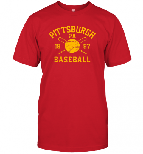 nzh7 vintage pittsburgh baseball pennsylvania pirate retro gift jersey t shirt 60 front red