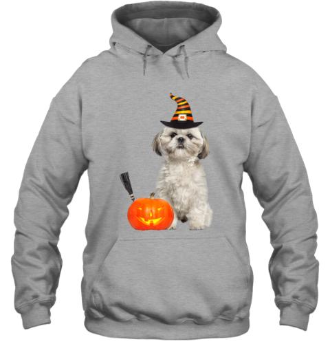 Shih Tzu Witch Hat Halloween Dog Costume Hoodie