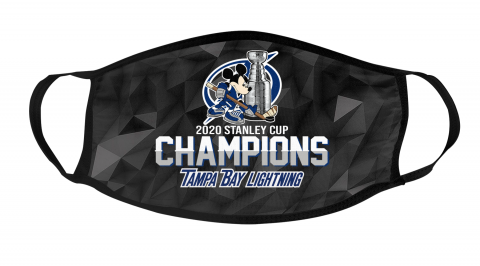Tampa Bay Lightning Final 2020 Stanley Champions Mickey Mouse Mask Face Cover