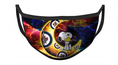 NHL Winnipeg Jets Hockey Snoopy Moon Galaxy For Fans Cool Face Masks Face Cover