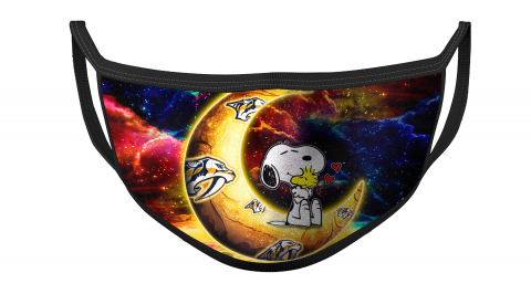 NHL Nashville Predators Hockey Snoopy Moon Galaxy For Fans Cool Face Masks Face Cover