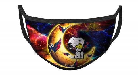 NHL Washington Capitals Hockey Snoopy Moon Galaxy For Fans Cool Face Masks Face Cover
