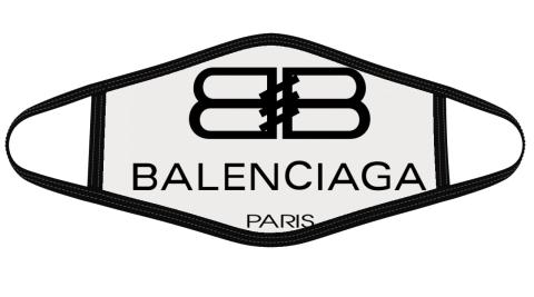 Balenciaga Logo Mask Cloth Face Cover