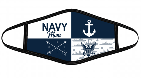 Navy mom cloth face mask Face Cover