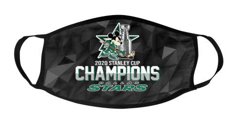 Dallas Stars Final 2020 Stanley Champions Mickey Mouse Mask Face Cover