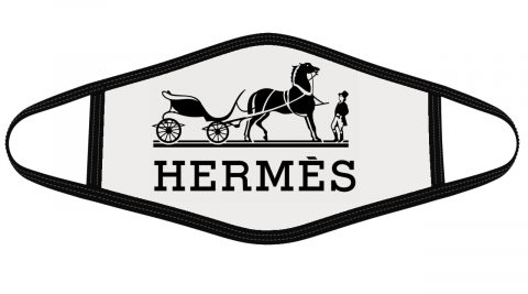 Hermes Logo Face Cover