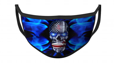NBA Houston Rockets Basketball American Flag Skull Face Masks Face Cover