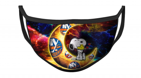 NHL New York Islanders Hockey Snoopy Moon Galaxy For Fans Cool Face Masks Face Cover
