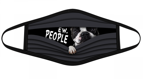 Boston Terrier Ew People cloth face mask Face Cover