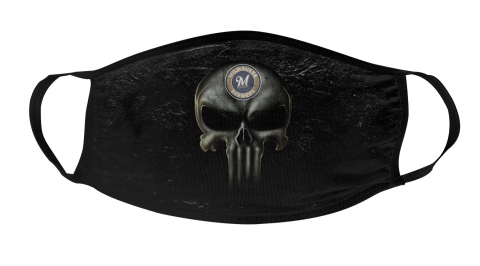 MLB Milwaukee Brewers Baseball The Punisher Face Mask Face Cover