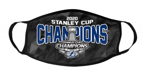 2020 Stanley Cup Champions NHL Tampa Bay Lightning Mask Face Cover