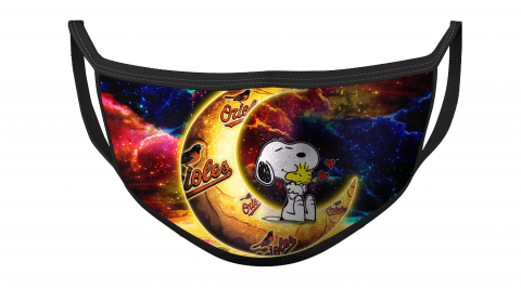 MLB Baltimore Orioles Baseball Snoopy Moon For Fans Cool Face Masks Face Cover