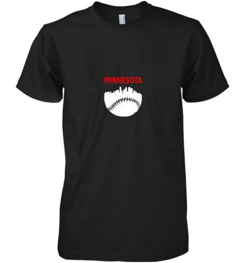 Retro Minnesota Baseball Minneapolis Cityscape Vintage Shirt Premium Men's T-Shirt