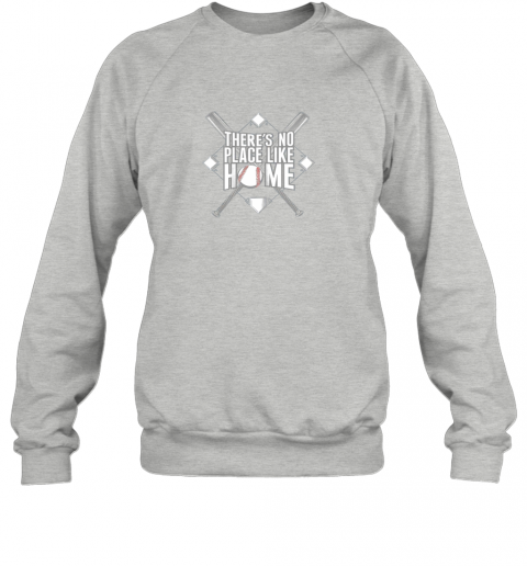 xloi there39 s no place like home baseball tshirt mom dad youth sweatshirt 35 front sport grey