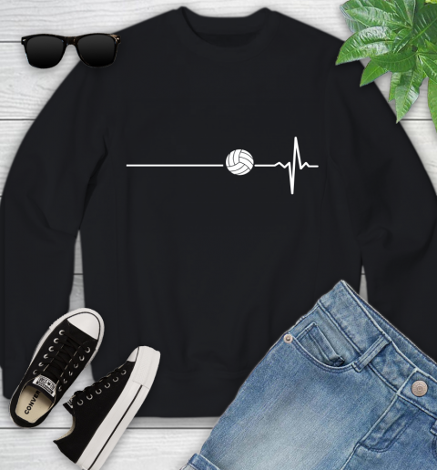Volleyball This Is How My Heart Beats Youth Sweatshirt