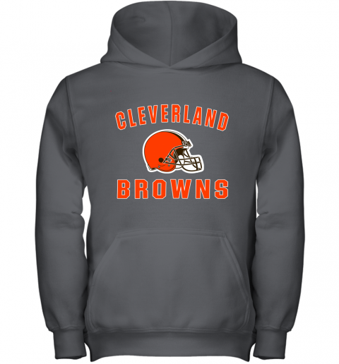 r6zh cleveland browns nfl line by fanatics branded brown victory youth hoodie 43 front charcoal