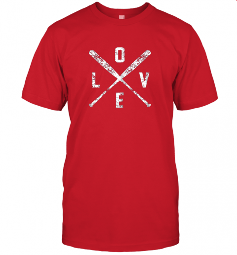 jzyv love baseball bats shirt baseball mom softball dad gift jersey t shirt 60 front red