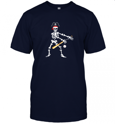 l6qs skeleton pirate floss dance with baseball shirt halloween jersey t shirt 60 front navy