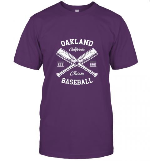 9pqv oakland baseball classic vintage california retro fans gift jersey t shirt 60 front team purple