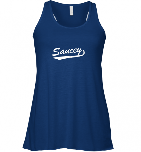 6kno saucey swag baseball flowy tank 32 front true royal