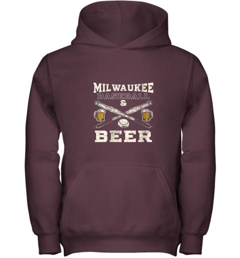 cpmk love milwaukee love baseball youth hoodie 43 front maroon