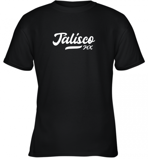 Tighe's Jalisco MX Mexico Baseball Jersey Style Youth T-Shirt