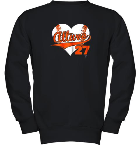 Jose Altuve Baseball Heart Shirt  Apparel Youth Sweatshirt