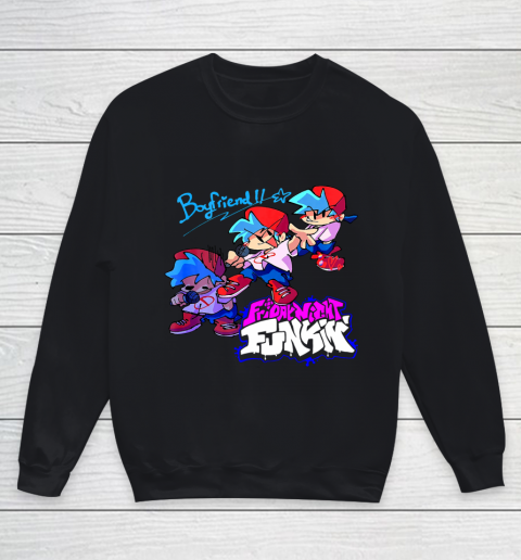 Friday Night Funkin Boyfriend Youth Sweatshirt 1
