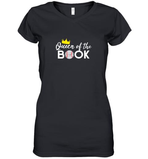 Scorekeeper Baseball Team Scorebook Queen Women's V-Neck T-Shirt