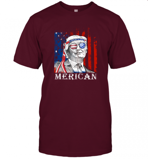 udxj merica donald trump 4th of july american flag shirts jersey t shirt 60 front maroon