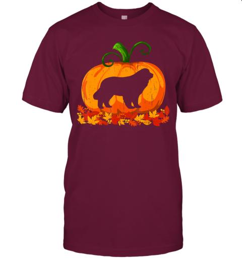 Funny Halloween Costume Newfoundland Dog Pumpkin T-Shirt