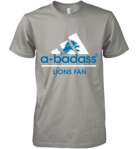 uovk a badass detroit lions mashup adidas nfl premium guys tee 5 front light grey