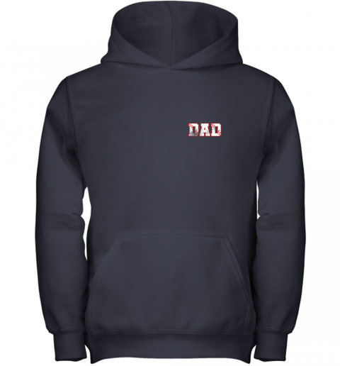 tydm mens baseball inspired dad fathers day distressed youth hoodie 43 front navy