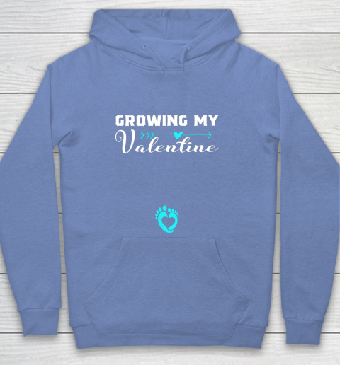 Cute Growing my Valentine Gift for Women pregnancy Youth Hoodie 8