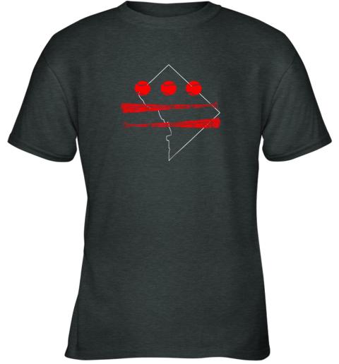 jjxo washington dc map capitol baseball flag youth t shirt 26 front dark heather