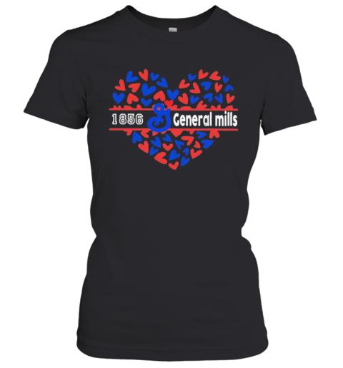 1856 General Mills Logo Hearts Women's T-Shirt
