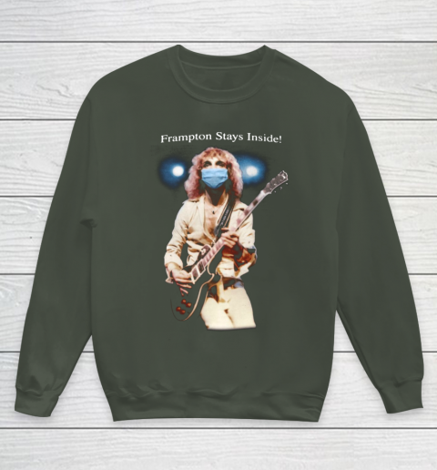 Peter Frampton Covid Stays Inside Youth Sweatshirt 8