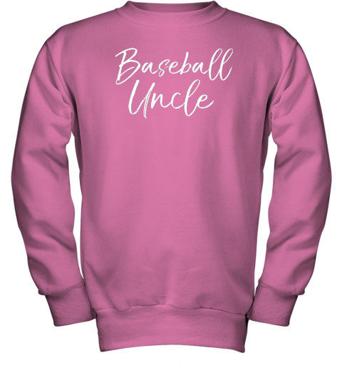 kyqt baseball uncle shirt for men cool baseball uncle youth sweatshirt 47 front safety pink