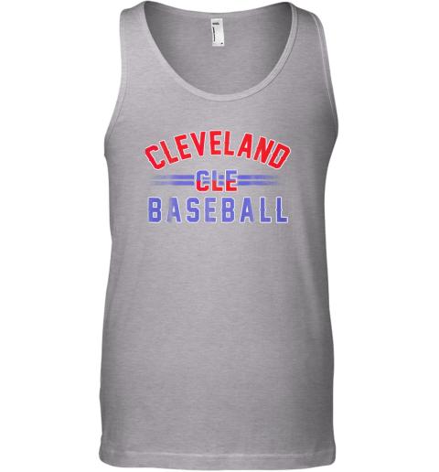 ndpp cleveland cle baseball unisex tank 17 front sport grey